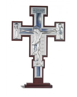 Crucifix Bilaminate Sterling Silver 0798