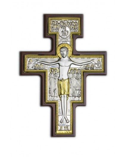 Crucifix Bilaminate Sterling Silver and Gold 0822