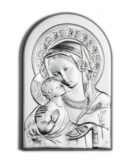 Virgin Mary Bilaminate Sterling Silver 0806