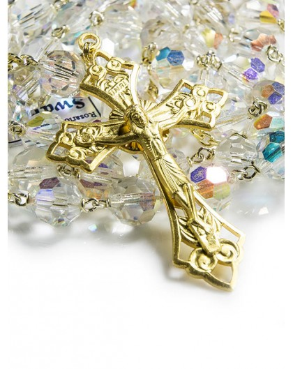 Swarovski Gold Plated Crystal Rosary