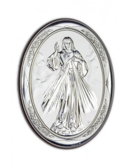Divine Mercy Bilaminate Sterling Silver 2335