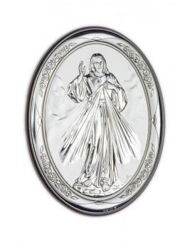 Divine Mercy Bilaminate Sterling Silver 0811