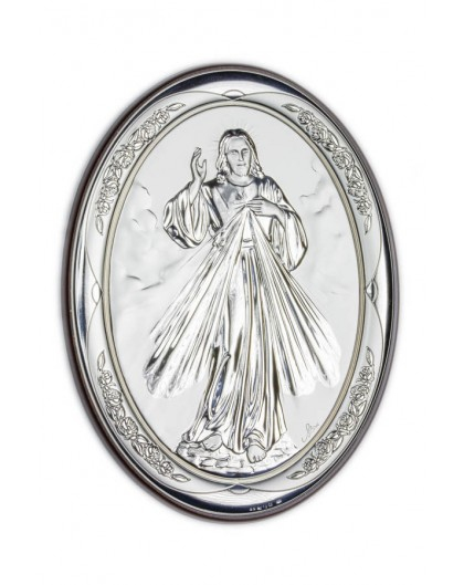 Divine Mercy Bilaminate Sterling Silver 0811