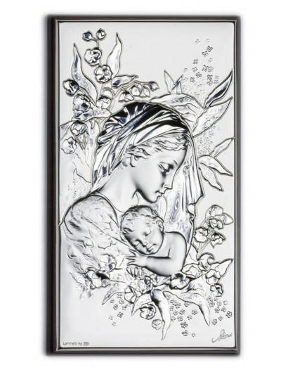 Sleeping Jesus Baby Bilaminate Sterling Silver 0815