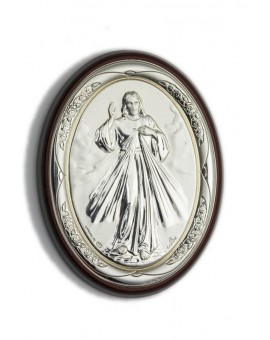 Divine Mercy Bilaminate Sterling Silver 0854