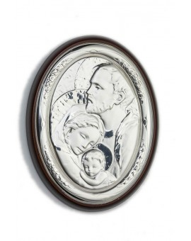 Holy Family Bilaminate Sterling Silver 2100