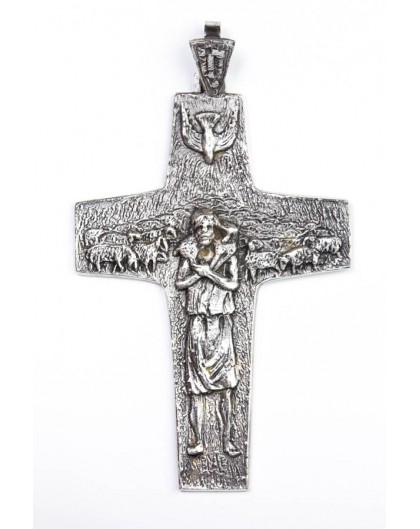 The original Pope Francis Pastoral Crucifix Silver