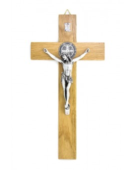 St. Benedict Crucifix light wood - Prestige series
