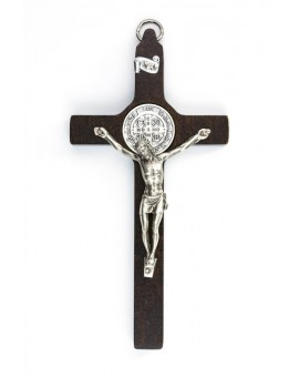 St. Benedict Crucifix walnut wood