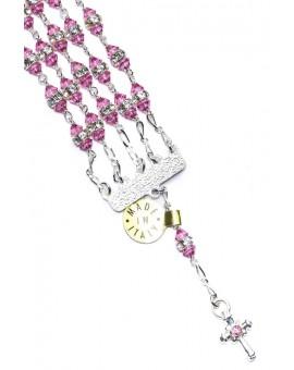 Jewel Rosary Bracelet pink strass