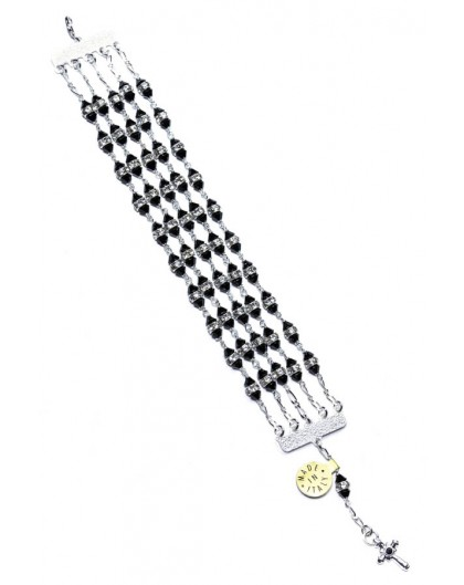 Jewel Rosary Bracelet Black strass