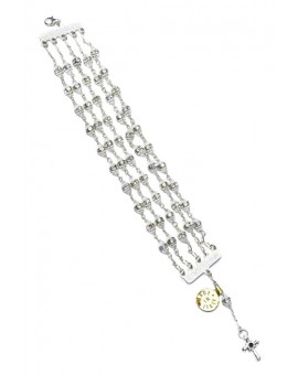 Jewel Rosary Bracelet Clear Cristal and strass