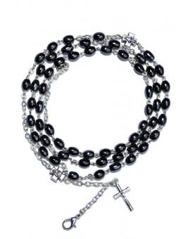 Hematite Rosary long Bracelet