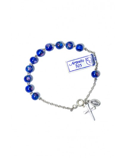 Murano glass Blue Rosary Bracelet