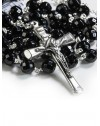 Black Faceted Onyx Rosary 6mm