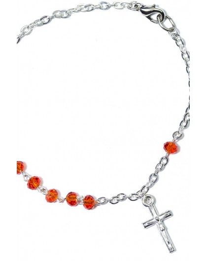 Red Crystal Rosary Bracelet small