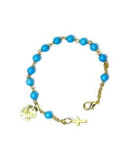 Turquoise gold plated Rosary bracelet