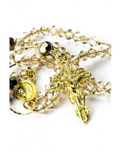 Clear and Gold Swarovski Gold Plated Silver Necklace