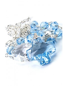 Swarovsky Blue Sky and Clear Crystal Necklace