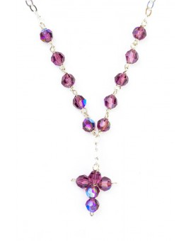 Swarovsky Violet Crystal Beads Necklace