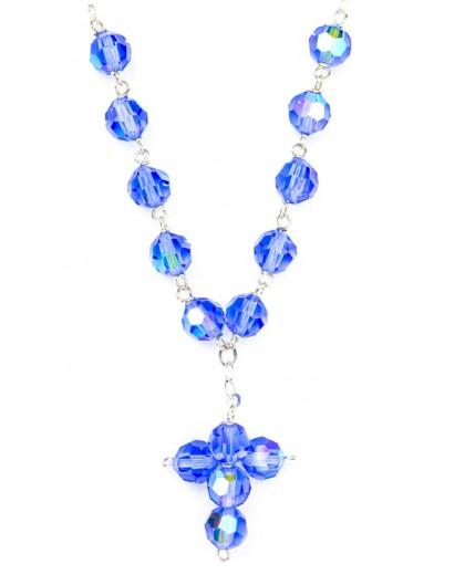 Swarovsky Light  Blue Crystal Beads Necklace