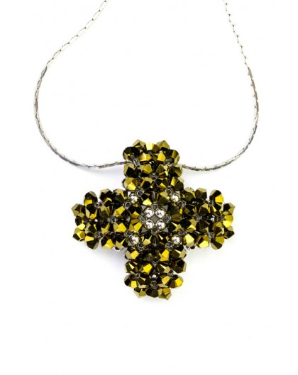 Gold and silver Cross Pendant