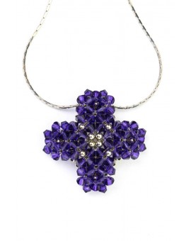 Swarovski Violet Cross necklace