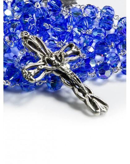 Blue Swarovski Crystal Rosary