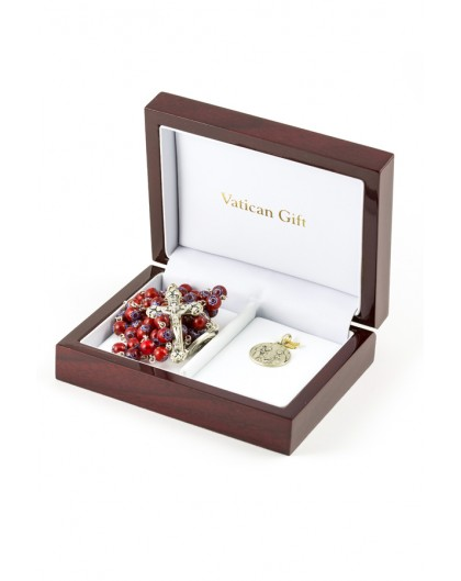 Red Crystal and Silver Christmas Gift