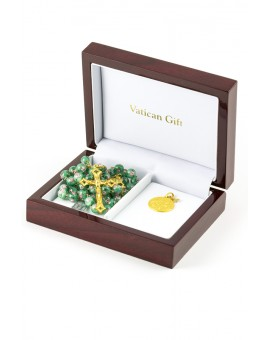 Gold and Green Murano Luxury Christmas Gift