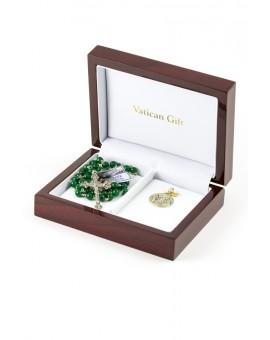 Green Agata Silver Christmas Gift