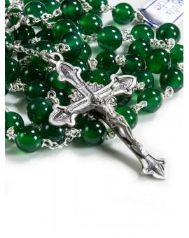 Deep Green Agata Rosary