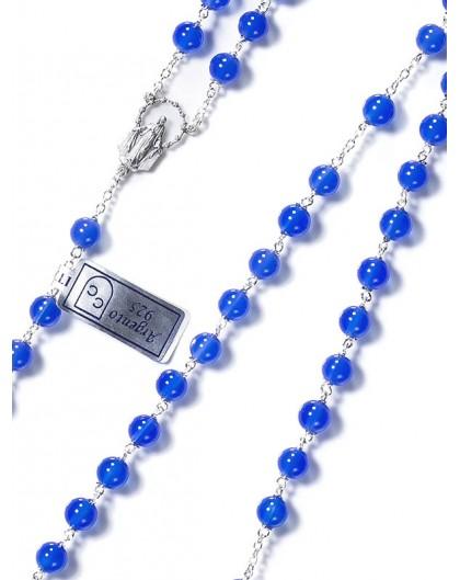 Deep Blue Agata Rosary