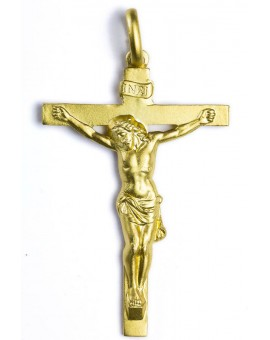 Christ Body Crucifix gold plated small