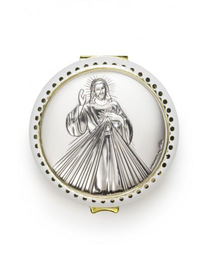 Divine Mercy silver Rosary Box