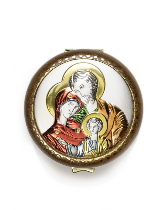Holy Family silver Rosary Box