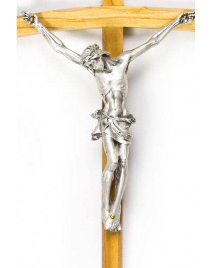 Light Wood thin Crucifix
