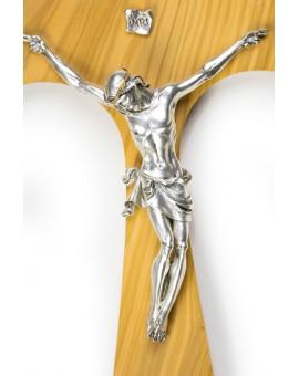 Big Olive Wood Tau Crucifix