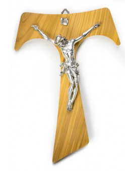 Big Olive Wood Tau Crucifix