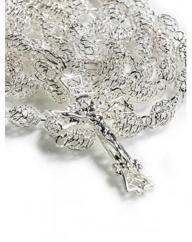 Silver filigree rosary