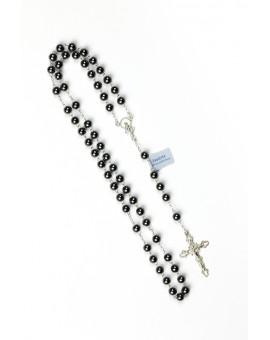Hematite Shine Silver Rosary
