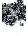 Hematite Antique Silver Rosary