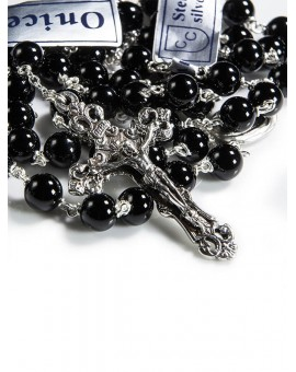 Black Onyx Rosary 6mm beads