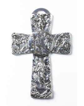 Sculptured wall Crucifix Small