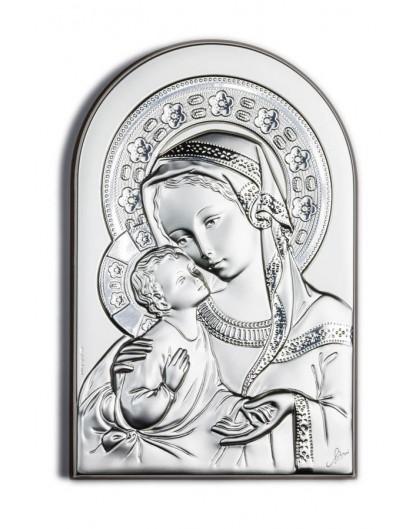 Virgin Mary Bilaminate Sterling Silver 0806