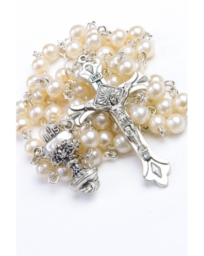 Holy Communion Gift Precious White Box - Glass Pearl