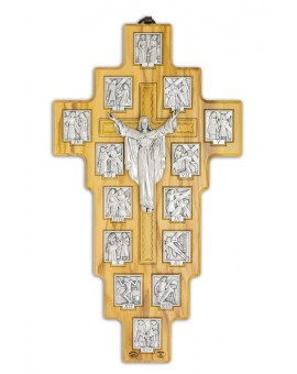 Olive Wood Via Crucis