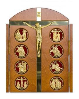 Tryptic Wooden Via Crucis