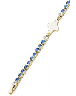 Swarovski Crystal Bracelet - Blue - Metal Gold