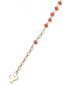 Crystal Bracelet - Salmon - Metal Gold